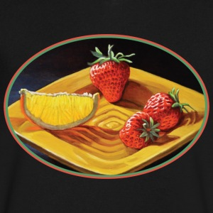 Citrus Juicy Strawberry Orange - Men's V-Neck T-Shirt by Canvas
