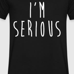 I'M SERIOUS - Men's V-Neck T-Shirt by Canvas
