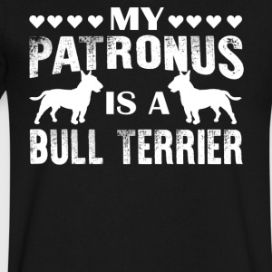 My Patronus Is A Bull Terrier Shirt - Men's V-Neck T-Shirt by Canvas