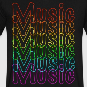 Neon Music - Men's V-Neck T-Shirt by Canvas