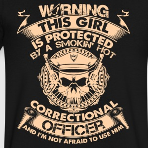 Correctional Officer Tee Shirt - Men's V-Neck T-Shirt by Canvas