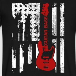 Electric Guitar Flag Shirt - Men's V-Neck T-Shirt by Canvas