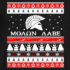 Molon Labe Ugly Christmas Shirt - Men's V-Neck T-Shirt by Canvas