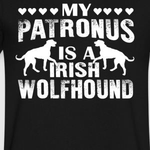 My Patronus Is A Irish Wolfhound Shirts - Men's V-Neck T-Shirt by Canvas