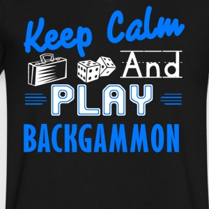 Keep Calm And Play Backgammon Shirt - Men's V-Neck T-Shirt by Canvas