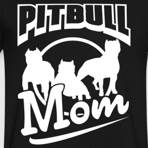 Pitbull Mom Shirt - Men's V-Neck T-Shirt by Canvas