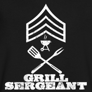 GRILL SERGEANT BBQ BARBECUE SHIRT - Men's V-Neck T-Shirt by Canvas