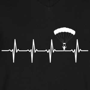 Skydive - Heartbeat - Men's V-Neck T-Shirt by Canvas