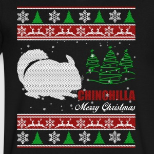 Chinchilla Shirt - Chinchilla Christmas Shirt - Men's V-Neck T-Shirt by Canvas