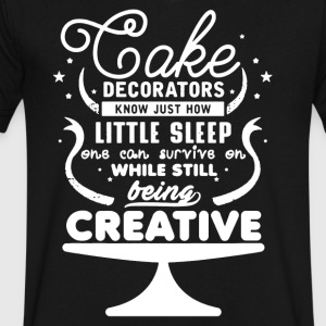 Cake Decorators Shirt - Men's V-Neck T-Shirt by Canvas