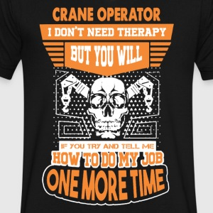 Crane Operator Therapy Shirt - Men's V-Neck T-Shirt by Canvas
