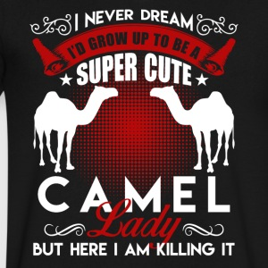 Super Cute Camel Lady Shirt - Men's V-Neck T-Shirt by Canvas