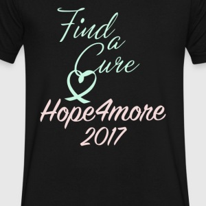 Find a cure Hope4more - Men's V-Neck T-Shirt by Canvas