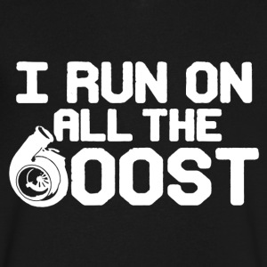 Run On All The Boost Shirt - Men's V-Neck T-Shirt by Canvas