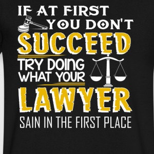 Lawyer T shirt - Men's V-Neck T-Shirt by Canvas