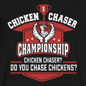 Chicken Chaser Shirt - Men's V-Neck T-Shirt by Canvas