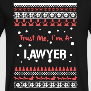 Lawyer Christmas Tshirt - Men's V-Neck T-Shirt by Canvas