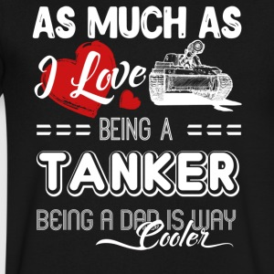 Love Being A Tanker Shirt - Men's V-Neck T-Shirt by Canvas