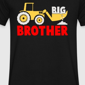 Big Brother Gift for Tractor Loving Boys - Men's V-Neck T-Shirt by Canvas