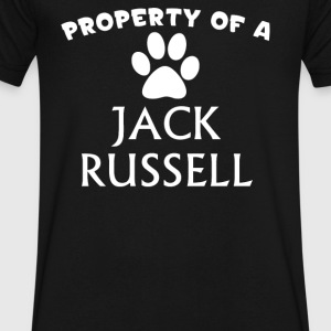 Jack Russell - Men's V-Neck T-Shirt by Canvas