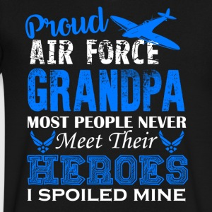 Air Force Grandpa Shirt - Men's V-Neck T-Shirt by Canvas