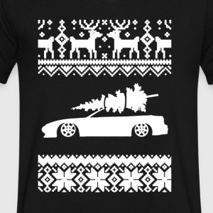 Hatch Ugly Christmas Sweatshirt - Men's V-Neck T-Shirt by Canvas
