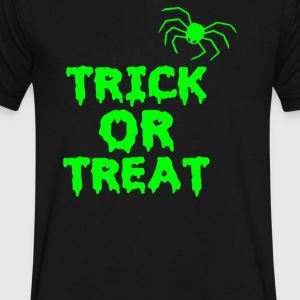 TRICK OR TREAT - Men's V-Neck T-Shirt by Canvas