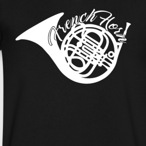 French Horn Apparel - Men's V-Neck T-Shirt by Canvas