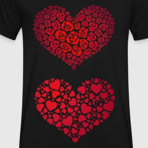 Valentine Hearts - Men's V-Neck T-Shirt by Canvas