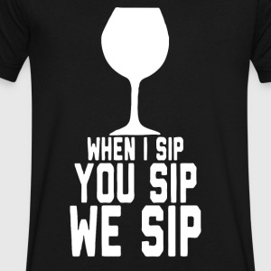 WE SIP - Men's V-Neck T-Shirt by Canvas