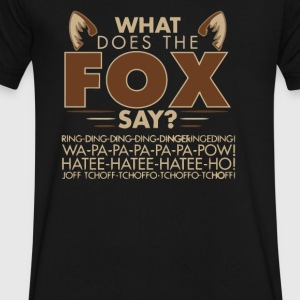 What Does the Fox Say - Men's V-Neck T-Shirt by Canvas