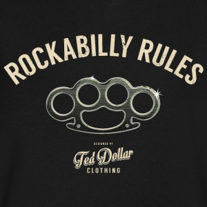 Rockabilly Rules - Men's V-Neck T-Shirt by Canvas