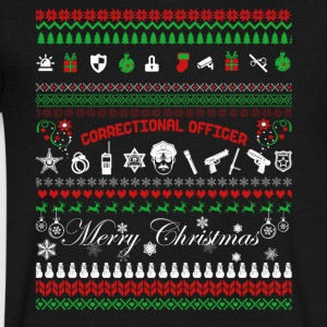 Correctional Officer Christmas Shirt - Men's V-Neck T-Shirt by Canvas