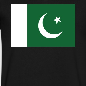 Flag of Pakistan Cool Pakistani Flag - Men's V-Neck T-Shirt by Canvas