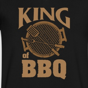 KING of BBQ - Men's V-Neck T-Shirt by Canvas
