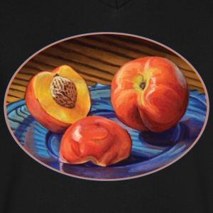 Juicy Nectarines - Men's V-Neck T-Shirt by Canvas