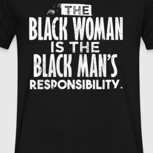 BLACK WOMAN IS THE BLACK MAN - Men's V-Neck T-Shirt by Canvas