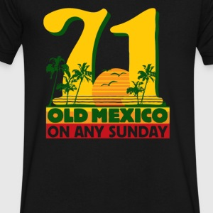 Old Mexico On Any Sunday - Men's V-Neck T-Shirt by Canvas