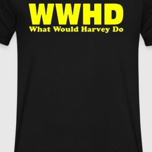WWHD What would Harvey Do - Men's V-Neck T-Shirt by Canvas