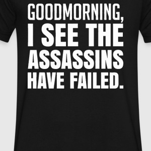I See The Have Failed Assassins - Men's V-Neck T-Shirt by Canvas