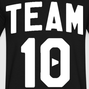 TEAM 10 TEN arc - white - Men's V-Neck T-Shirt by Canvas