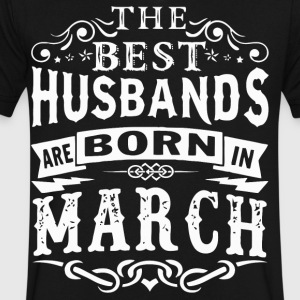 The best Husbands are born in March - Men's V-Neck T-Shirt by Canvas