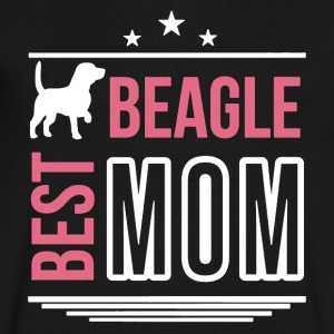 Best Beagle Mom Shirt - Men's V-Neck T-Shirt by Canvas