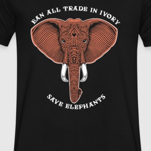 Trade in ivory save elephants - Men's V-Neck T-Shirt by Canvas