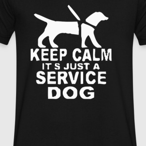 Service dog Short Sleeve - Men's V-Neck T-Shirt by Canvas