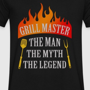 Grill Master The Man The Myth The Legend - Men's V-Neck T-Shirt by Canvas