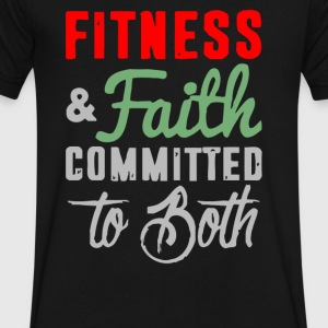 Fitness Faith Committed To Both - Men's V-Neck T-Shirt by Canvas