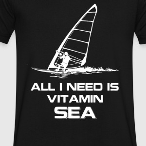 WINDSURFING VITAMIN SEA - Men's V-Neck T-Shirt by Canvas