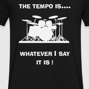 Drum Drummer Tempo Musician Music - Men's V-Neck T-Shirt by Canvas