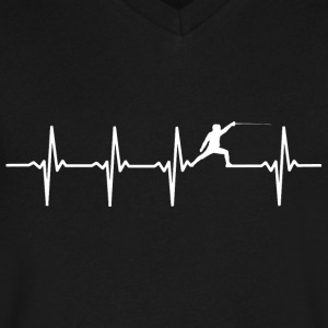 Fence - Heartbeat - Men's V-Neck T-Shirt by Canvas